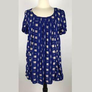 Holding Horses Anthropologie Blue Babydoll Dress